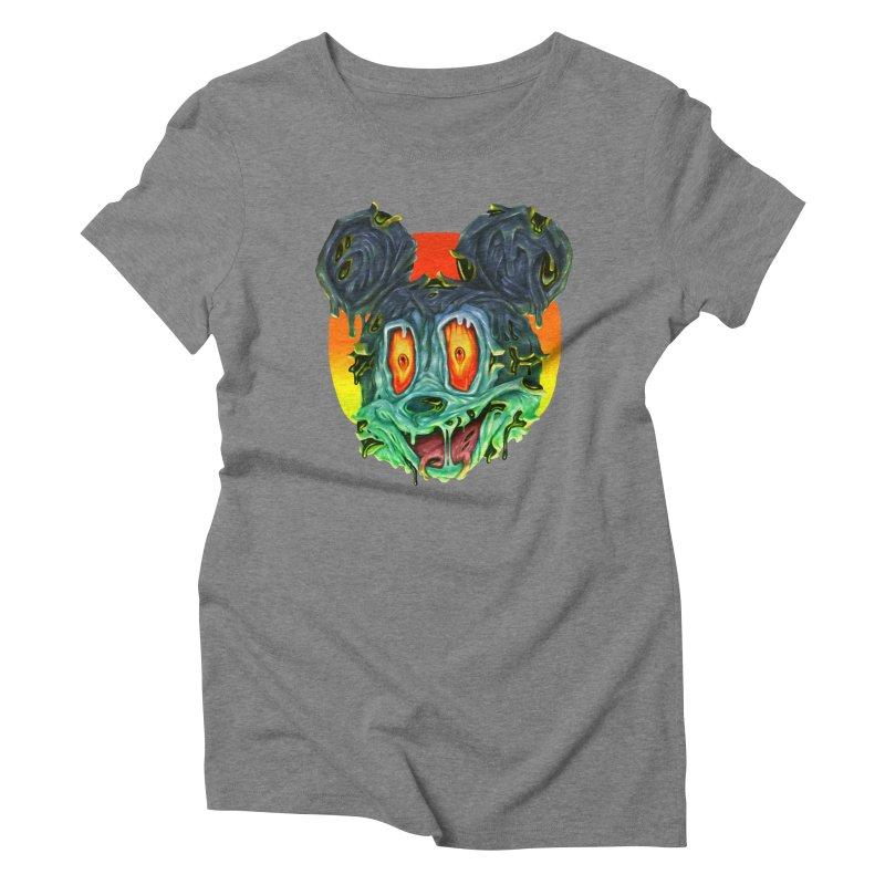 Horror Mouse Women's Triblend T-Shirt by villainmazk's Artist Shop