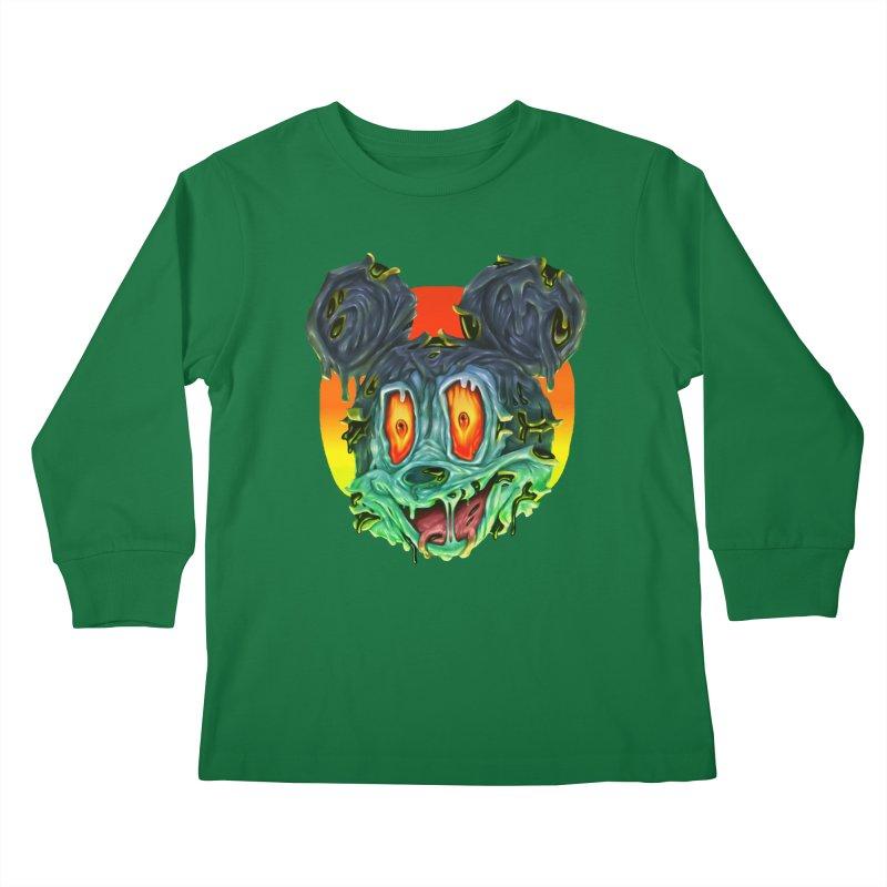 Horror Mouse Kids Longsleeve T-Shirt by villainmazk's Artist Shop