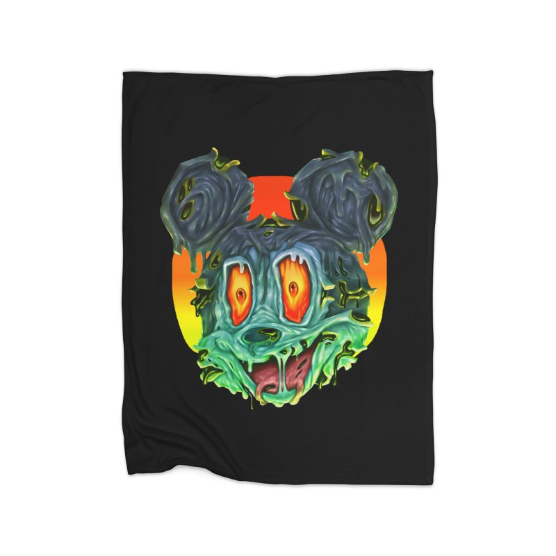 Horror Mouse Home Fleece Blanket Blanket by villainmazk's Artist Shop