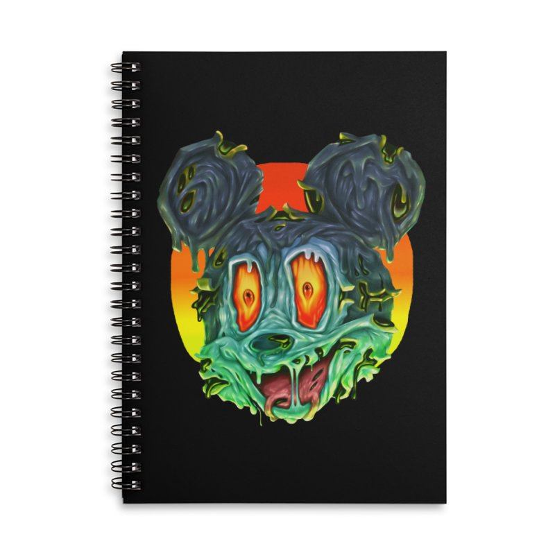Horror Mouse Accessories Lined Spiral Notebook by villainmazk's Artist Shop