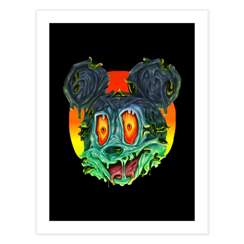 Horror Mouse Home Fine Art Print by villainmazk's Artist Shop