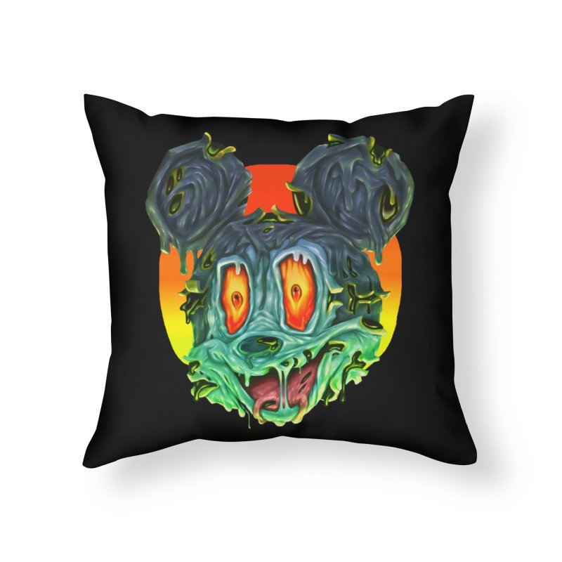 Horror Mouse Home Throw Pillow by villainmazk's Artist Shop