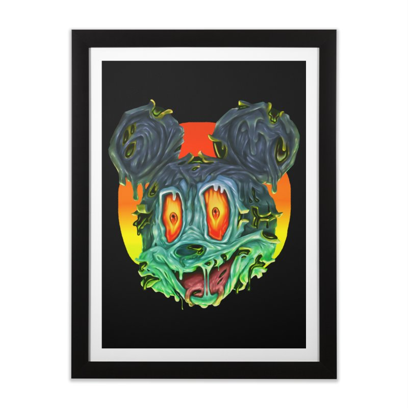 Horror Mouse Home Framed Fine Art Print by villainmazk's Artist Shop