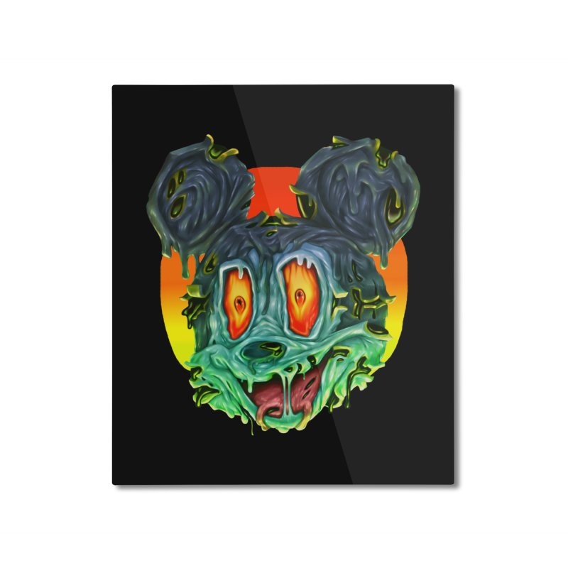 Horror Mouse Home Mounted Aluminum Print by villainmazk's Artist Shop