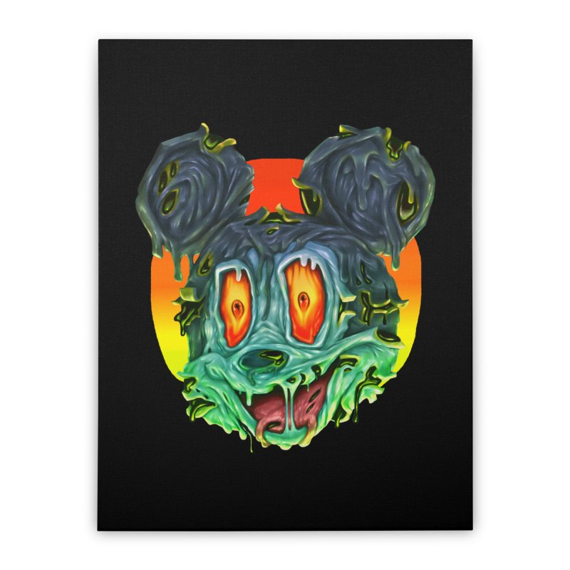 Horror Mouse Home Stretched Canvas by villainmazk's Artist Shop