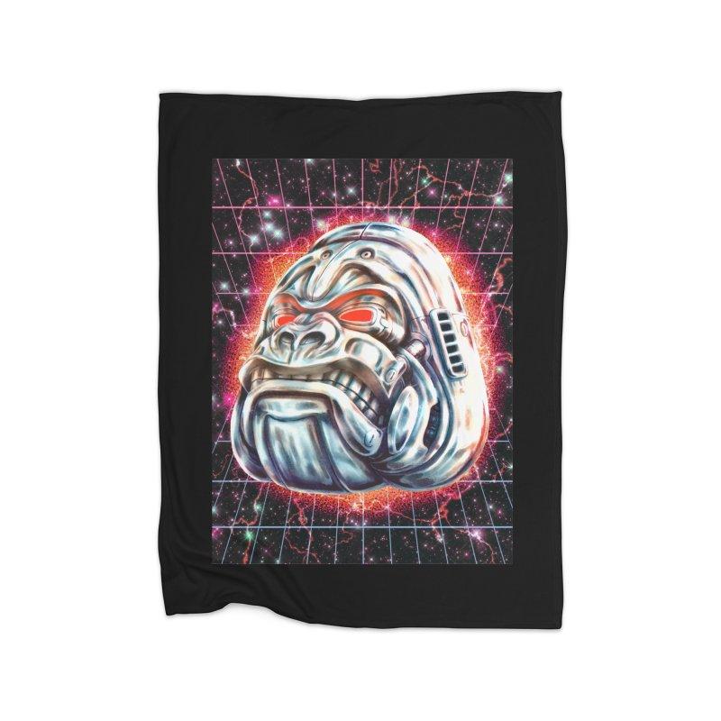 Electric Gorilla Home Fleece Blanket Blanket by villainmazk's Artist Shop