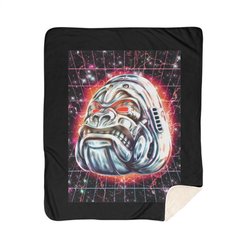 Electric Gorilla Home Sherpa Blanket Blanket by villainmazk's Artist Shop