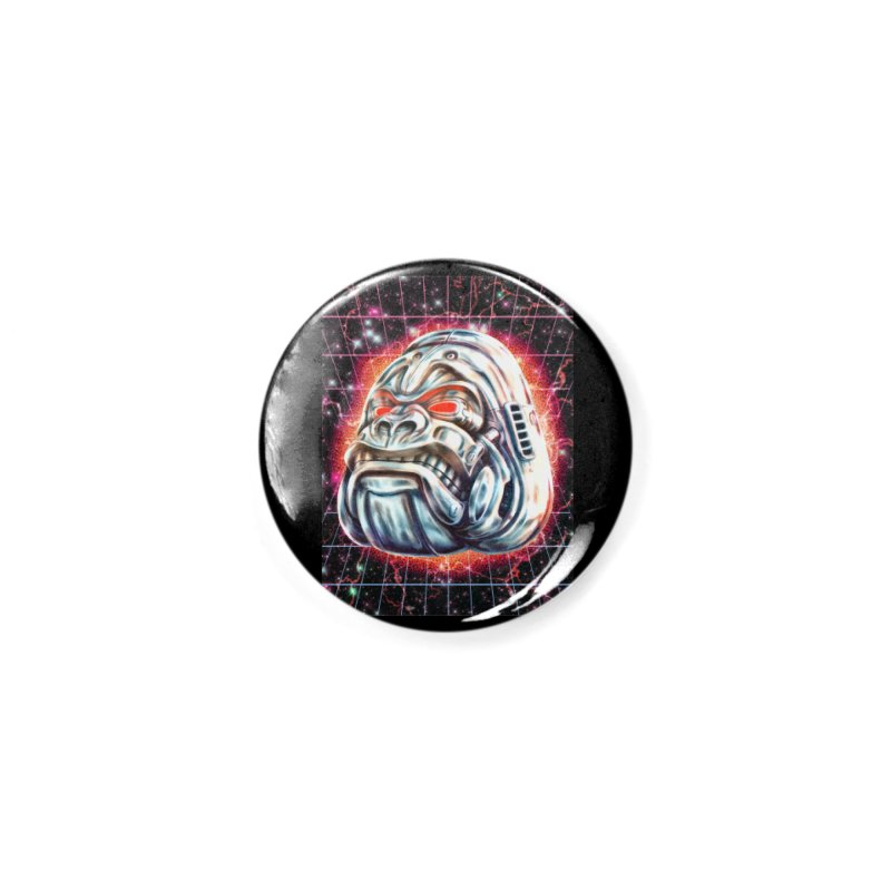 Electric Gorilla Accessories Button by villainmazk's Artist Shop