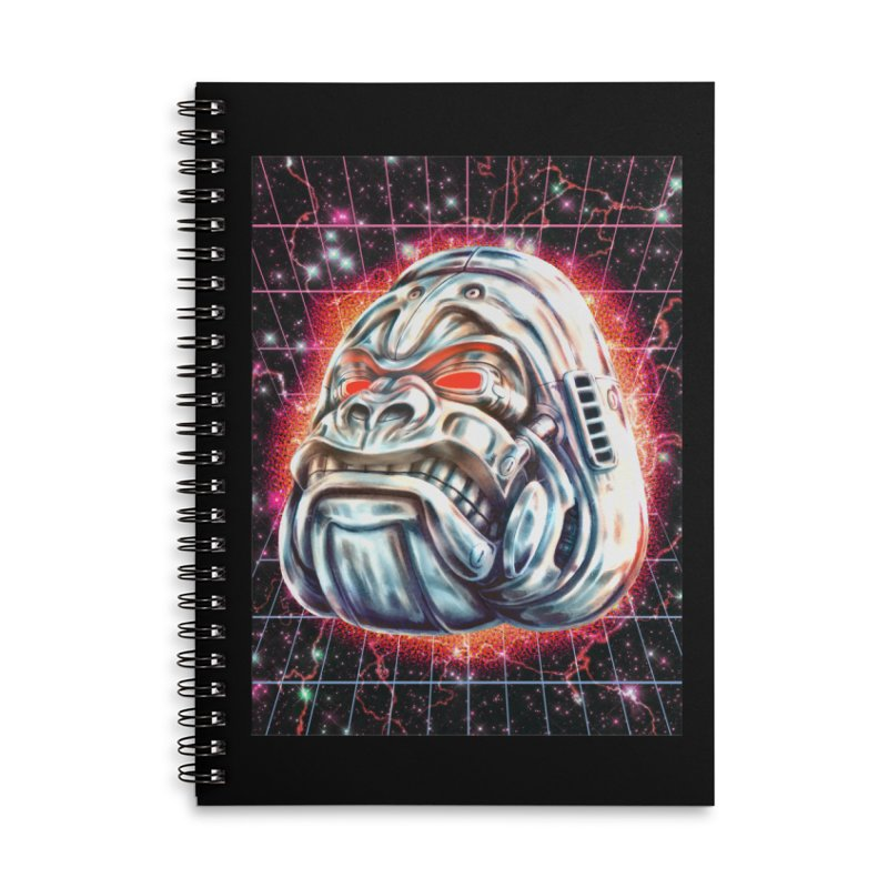 Electric Gorilla Accessories Lined Spiral Notebook by villainmazk's Artist Shop