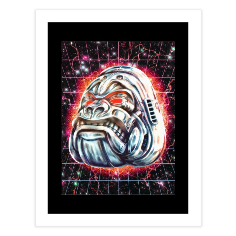 Electric Gorilla Home Fine Art Print by villainmazk's Artist Shop