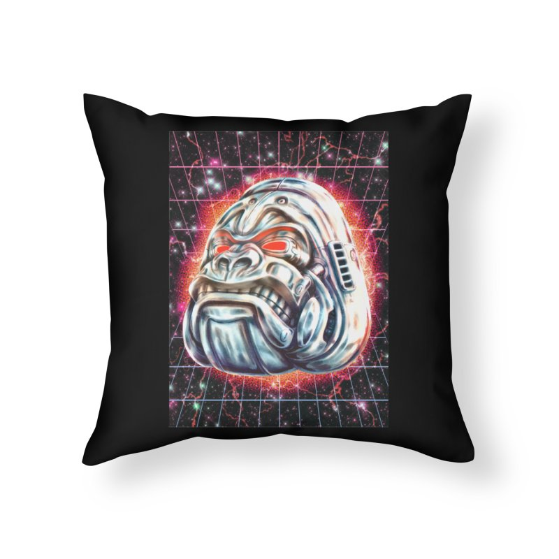 Electric Gorilla Home Throw Pillow by villainmazk's Artist Shop