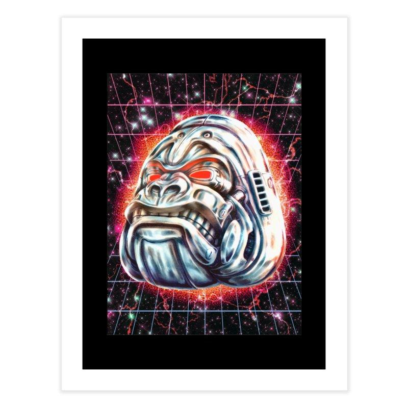 Electric Gorilla Home Fine Art Print by villainmazk's Artist Shop