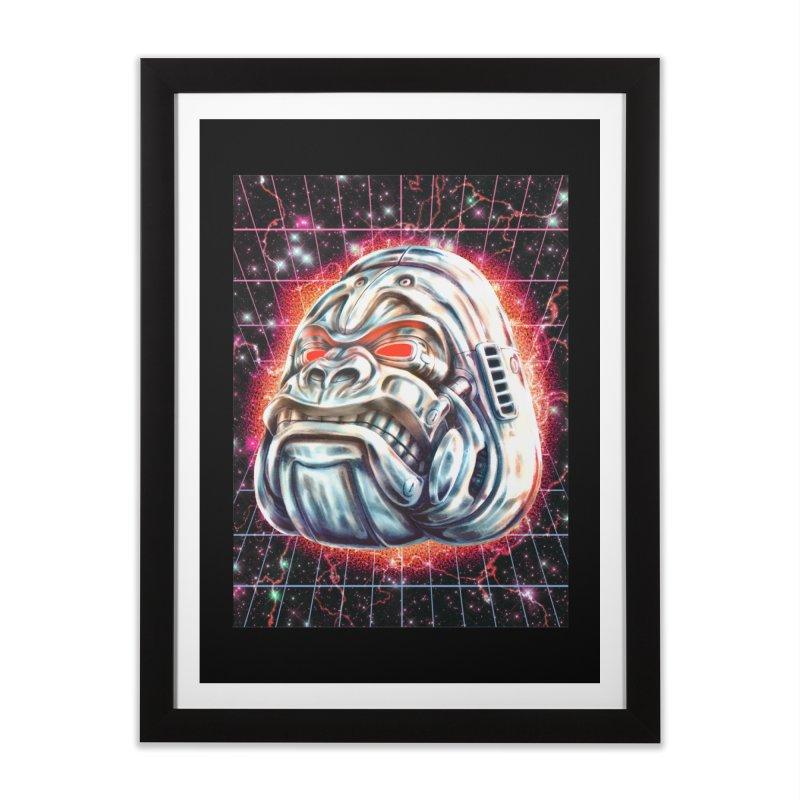 Electric Gorilla Home Framed Fine Art Print by villainmazk's Artist Shop