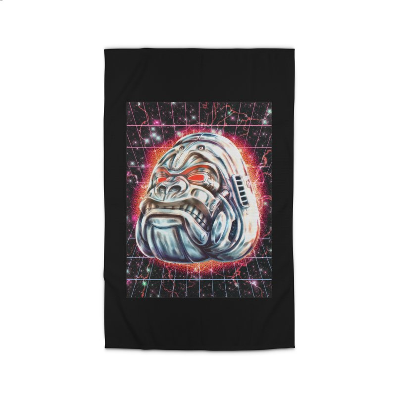 Electric Gorilla Home Rug by villainmazk's Artist Shop