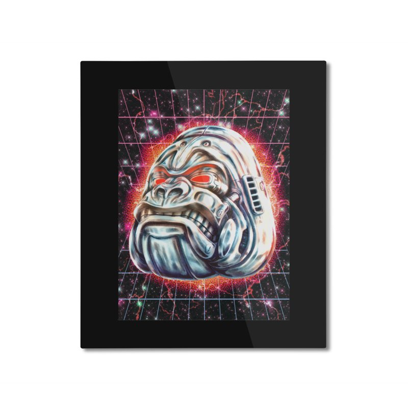 Electric Gorilla Home Mounted Aluminum Print by villainmazk's Artist Shop