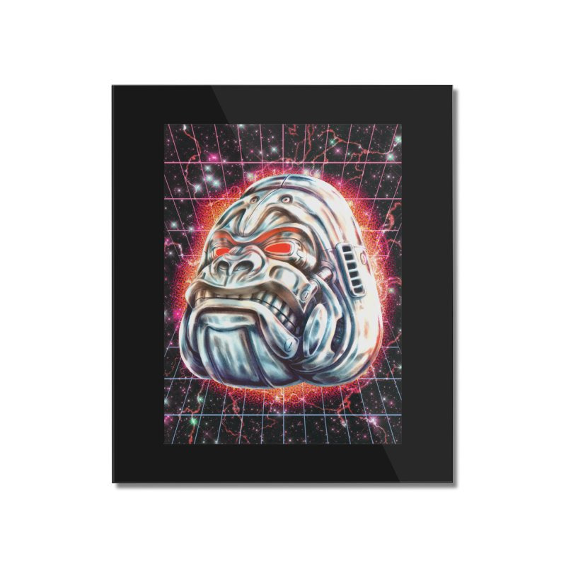Electric Gorilla Home Mounted Acrylic Print by villainmazk's Artist Shop