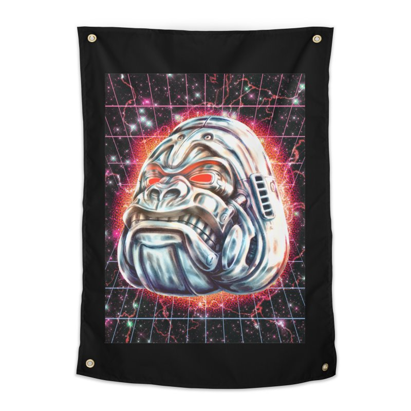 Electric Gorilla Home Tapestry by villainmazk's Artist Shop