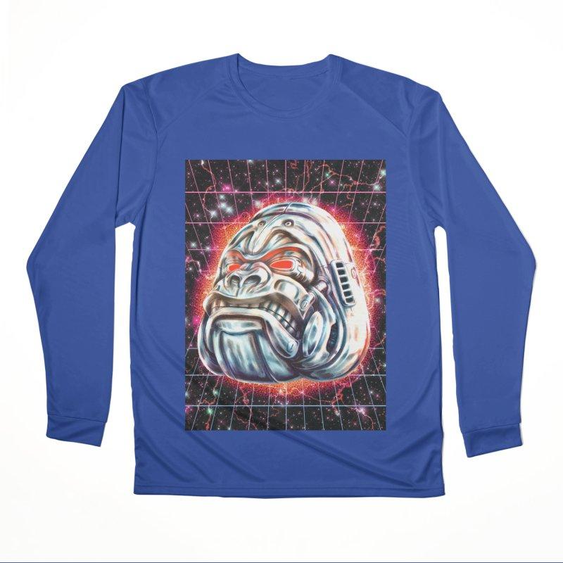 Electric Gorilla Men's Performance Longsleeve T-Shirt by villainmazk's Artist Shop