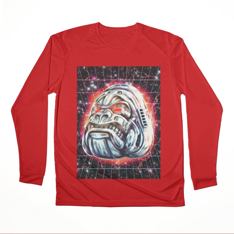 Electric Gorilla Women's Performance Unisex Longsleeve T-Shirt by villainmazk's Artist Shop