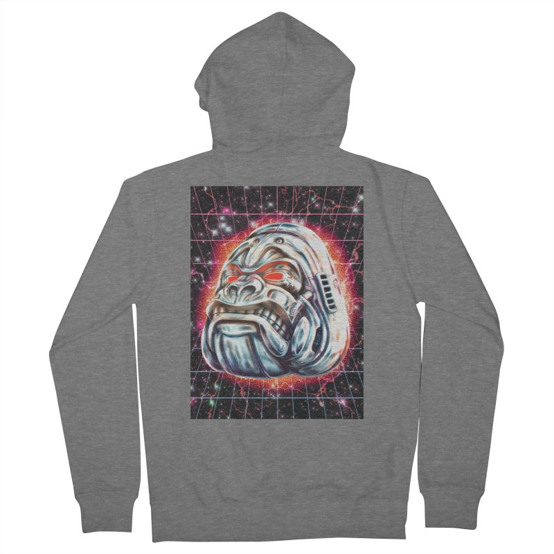 Electric Gorilla Women's French Terry Zip-Up Hoody by villainmazk's Artist Shop