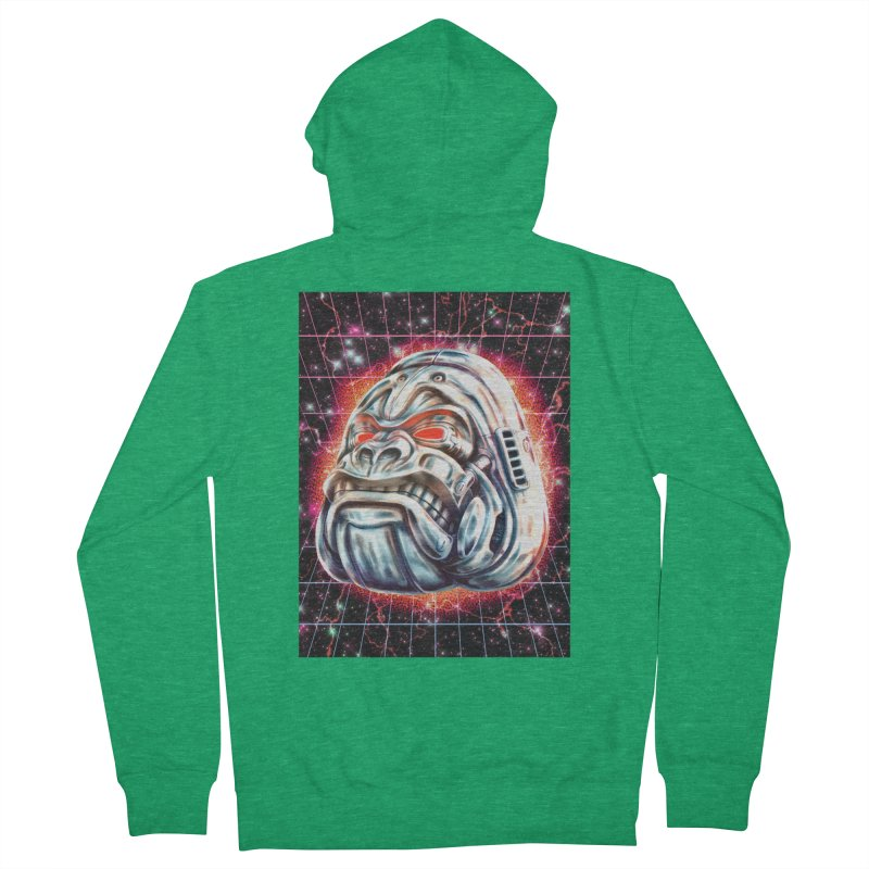 Electric Gorilla Men's Zip-Up Hoody by villainmazk's Artist Shop