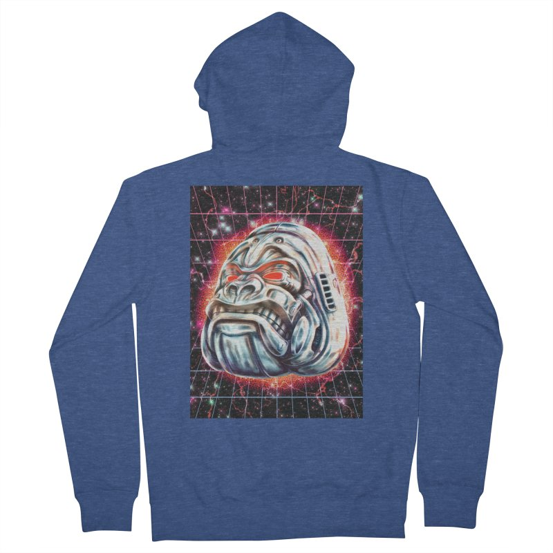 Electric Gorilla Men's French Terry Zip-Up Hoody by villainmazk's Artist Shop