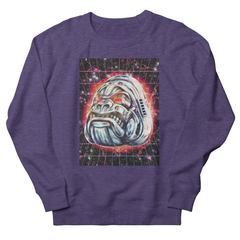 Electric Gorilla Women's French Terry Sweatshirt by villainmazk's Artist Shop