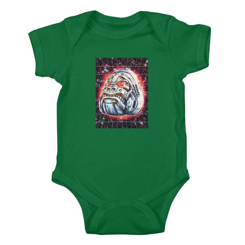 Electric Gorilla Kids Baby Bodysuit by villainmazk's Artist Shop