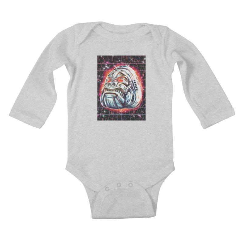 Electric Gorilla Kids Baby Longsleeve Bodysuit by villainmazk's Artist Shop