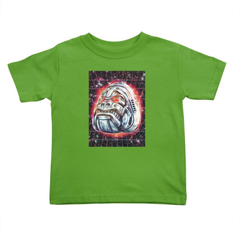 Electric Gorilla Kids Toddler T-Shirt by villainmazk's Artist Shop