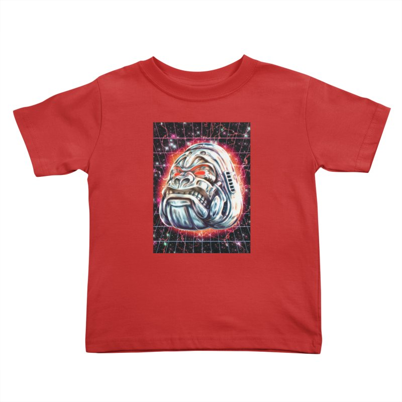 Electric Gorilla Kids Toddler T-Shirt by villainmazk's Artist Shop