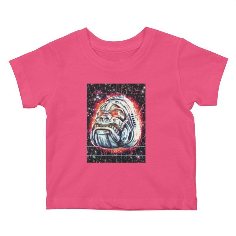 Electric Gorilla Kids Baby T-Shirt by villainmazk's Artist Shop