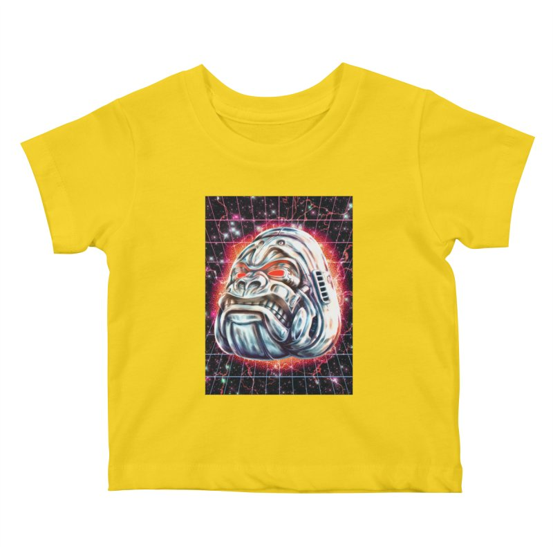 Electric Gorilla Kids Baby T-Shirt by villainmazk's Artist Shop