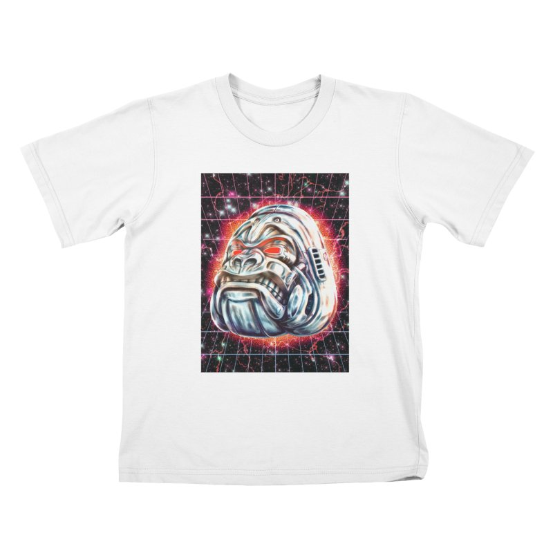 Electric Gorilla Kids T-Shirt by villainmazk's Artist Shop