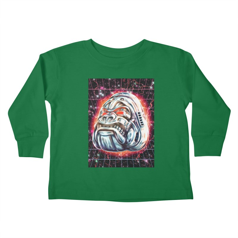 Electric Gorilla Kids Toddler Longsleeve T-Shirt by villainmazk's Artist Shop
