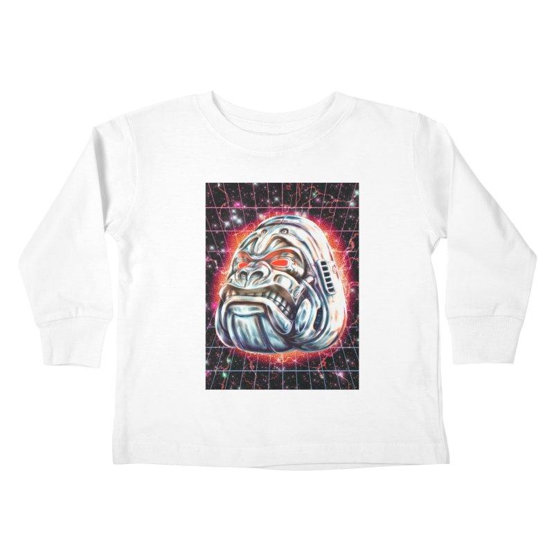 Electric Gorilla Kids Toddler Longsleeve T-Shirt by villainmazk's Artist Shop