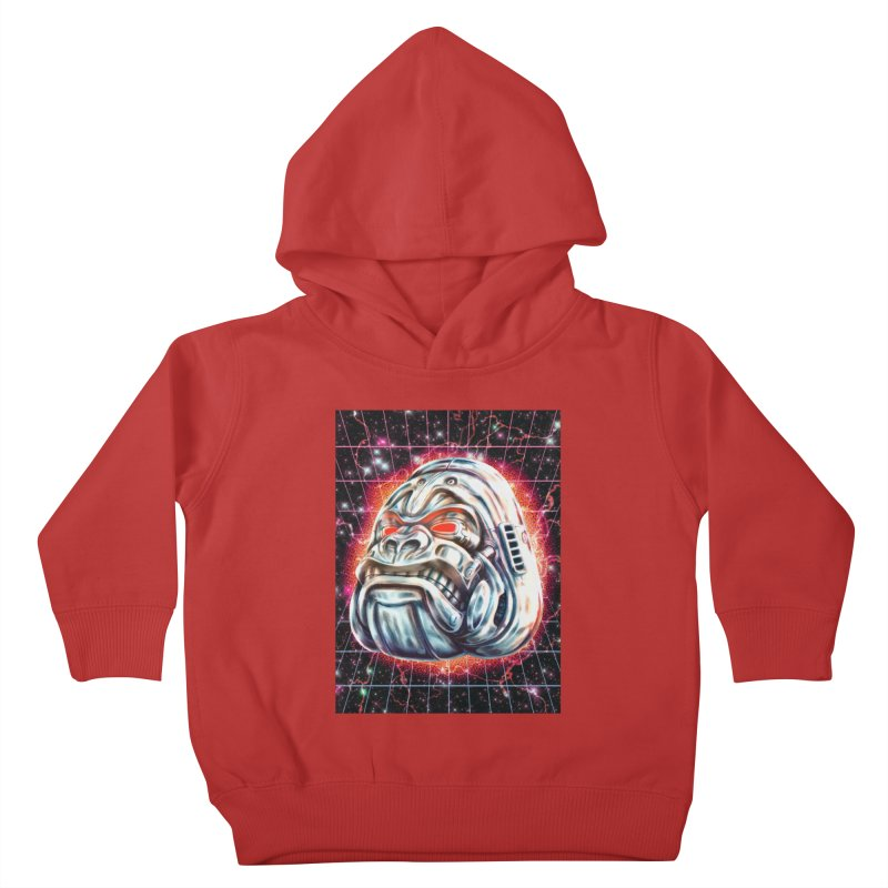 Electric Gorilla Kids Toddler Pullover Hoody by villainmazk's Artist Shop