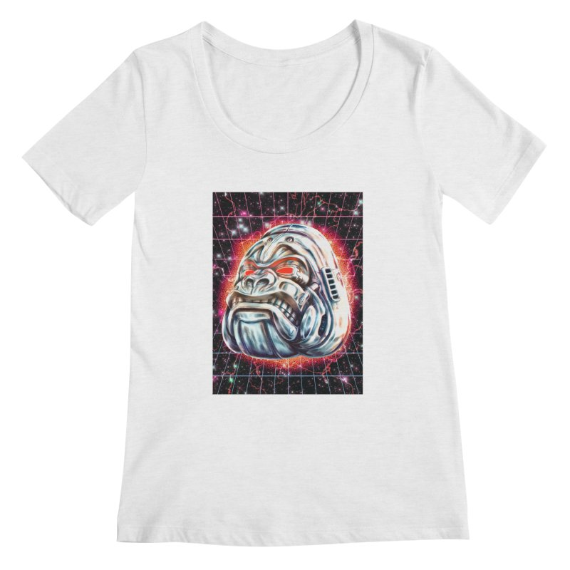 Electric Gorilla Women's Regular Scoop Neck by villainmazk's Artist Shop