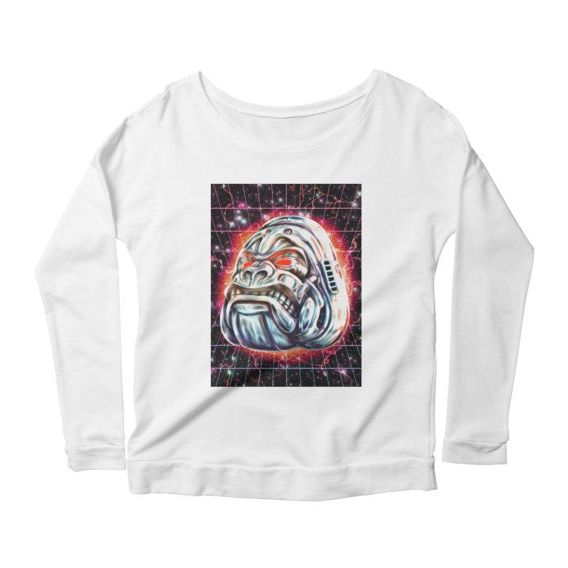 Electric Gorilla Women's Scoop Neck Longsleeve T-Shirt by villainmazk's Artist Shop