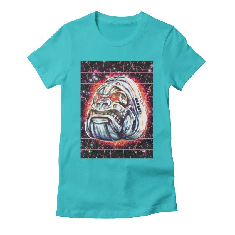 Electric Gorilla Women's Fitted T-Shirt by villainmazk's Artist Shop