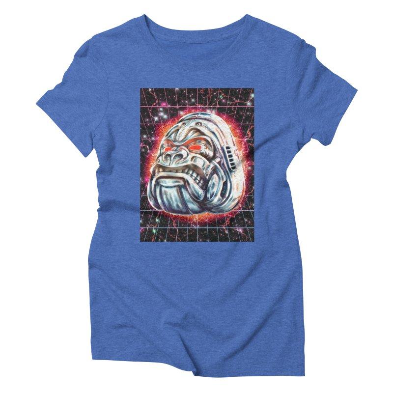 Electric Gorilla Women's Triblend T-Shirt by villainmazk's Artist Shop
