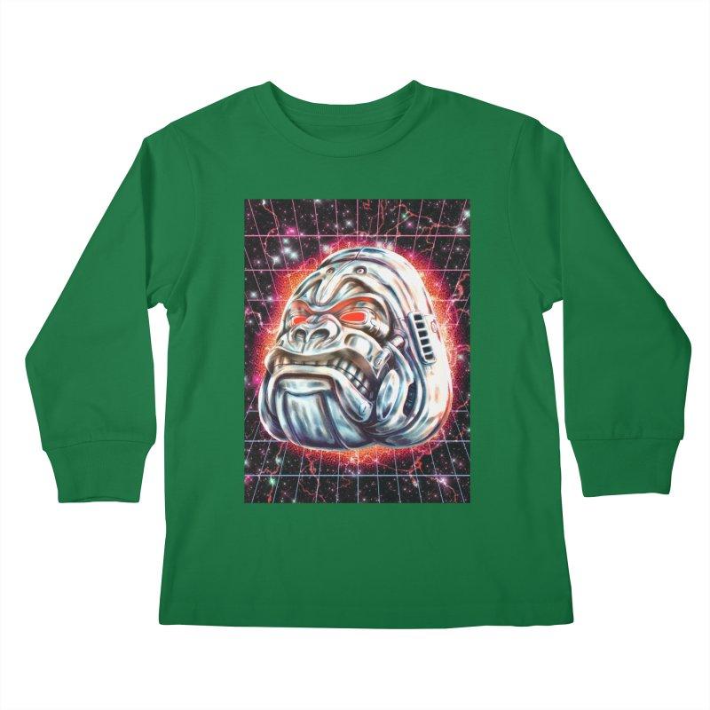 Electric Gorilla Kids Longsleeve T-Shirt by villainmazk's Artist Shop