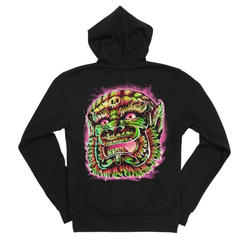 Yak Orc Men's Sponge Fleece Zip-Up Hoody by villainmazk's Artist Shop