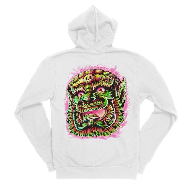 Yak Orc Women's Sponge Fleece Zip-Up Hoody by villainmazk's Artist Shop