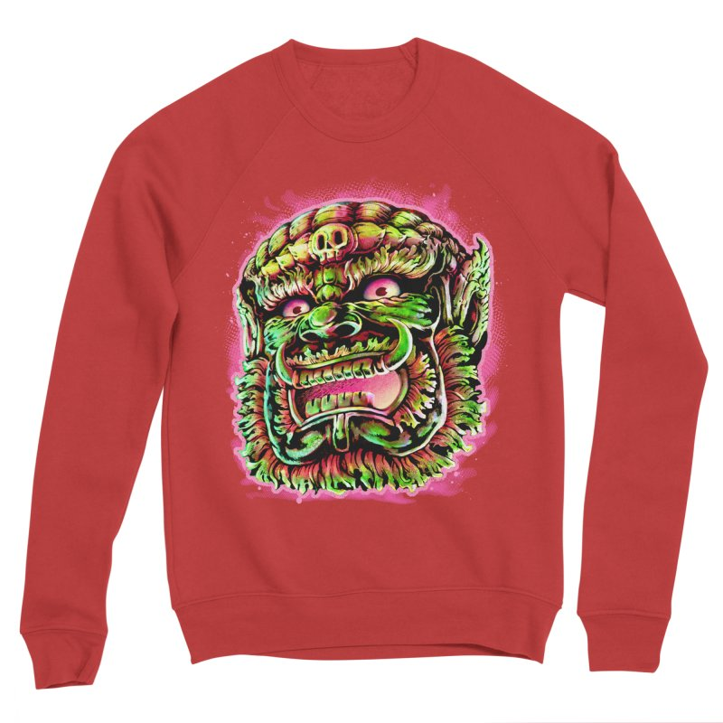 Yak Orc Women's Sponge Fleece Sweatshirt by villainmazk's Artist Shop