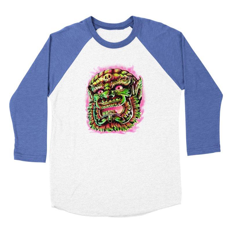 Yak Orc Women's Baseball Triblend Longsleeve T-Shirt by villainmazk's Artist Shop