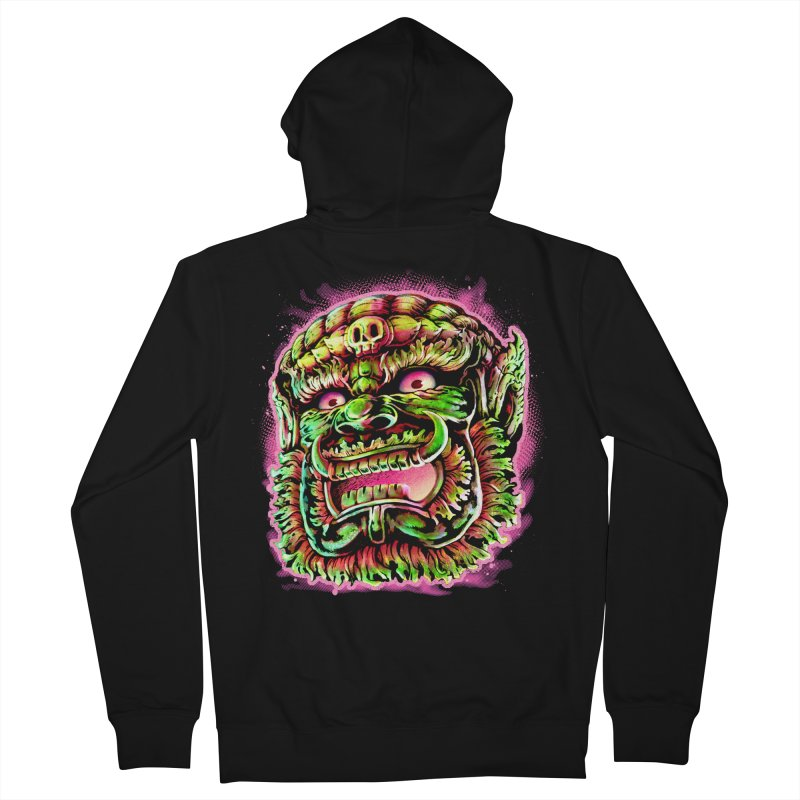 Yak Orc Women's French Terry Zip-Up Hoody by villainmazk's Artist Shop