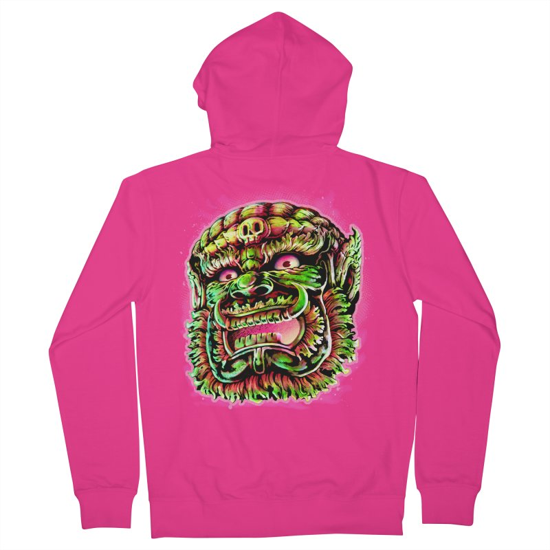 Yak Orc Men's French Terry Zip-Up Hoody by villainmazk's Artist Shop