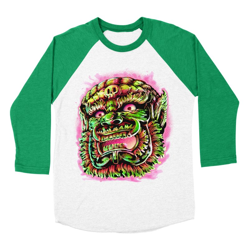 Yak Orc Women's Baseball Triblend Longsleeve T-Shirt by villainmazk's Artist Shop