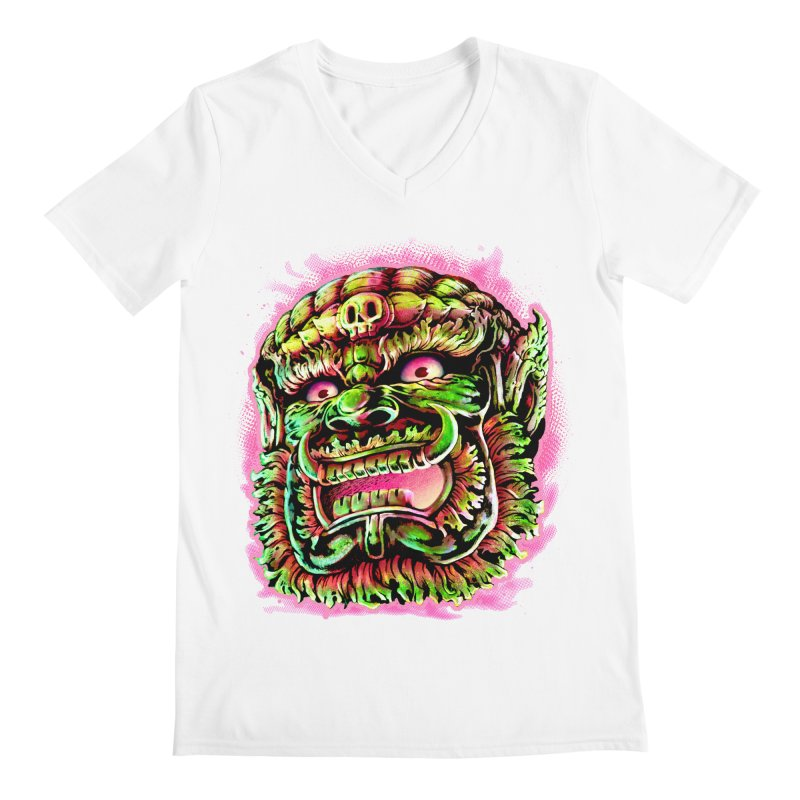 Yak Orc Men's Regular V-Neck by villainmazk's Artist Shop
